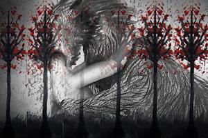 Roodkapje en de wolf, kunstwerk door Dragonda